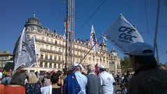 Protest place de la Comedie, Montpelier (Peter Curbishley) Tags: protest manifestation march montpellier france cgc cfe