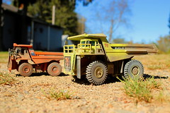 Ready to roll! (cheliman) Tags: diecast haultrucks scalemodels weathered mine collection euclid sunny 150 trucks