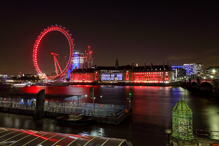 Thames river with London eye