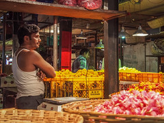 LR-007 (hunbille) Tags: india mumbai birgittemumbai32015lr dadar phool galli phoolgalli flower market bazaar bombay profile