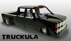 Truckula (Proudlove) Tags: lego proudlove lugnuts 120th chevy slammed dually