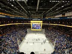 Scottrade Center (kielman316) Tags: stlouisblues stlouis scottradecenter nhl nationalhockeyleague calgaryflames calgary scoreboard arena hockey