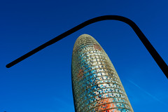 _DSC1238 (durr-architect) Tags: torre agbar tower barcelona jean nouvel modern high tech architecture rise bullet shape cylinder glass surface