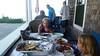 Dinner On The Porch (Joe Shlabotnik) Tags: galaxys5 verne july2017 violet patc higginsbeach 2017 maine rich everett cameraphone
