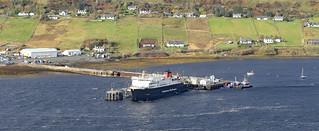 Port town of Uig on the isle of Skye Scotland.