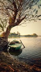 Siesta ... (Hazem Hafez) Tags: boat siesta calmnesd quiet tree watet rivet nile sunset shore greenery docking relaxing solo lonely