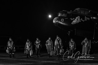 Safely home #nx611 #justjane#lancaster#heavybomber#WW2#eastkirkby#lincolnshire#crew#reenactors#moon#blackandwhite