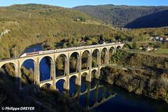 TGV POS 4409 sur TGV Lyria Genève Paris à Cize Bolozon (philippedreyer1) Tags: