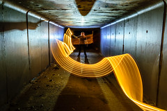 Ghost Tunnel (stephenk1977) Tags: australia queensland qld brisbane nikon d3300 light painting art ghost transparent silhouette backlit backlighting blfq8 lightflute tunnel