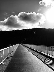 Ohratal dam (anubis131) Tags: bauwerke architecture architektur lichtschatten lightshadow impressions abstract reservoir staudam thüringen ohratalsperre dam schwarzweis blackwhite iphone7plus germany freudenbergerpiller anubis1301 heike
