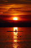 Sunset over Lake Constance today (ToSStudio) Tags: bodensee sunset sonnenuntergang canoe cayak kanu solitude