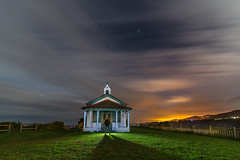 La Regalina. (Amparo Hervella) Tags: ermitalaregalina ermita asturias españa spain nube estrella cielo color lightpainting noche nocturna largaexposición d7000 nikon nikond7000 comunidadespañola