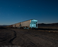 Blue Train (dejavue.us) Tags: lightpainting longexposure nightphotography nikon desert d800 180350mmf3545 train hopper fullmoon vle nikkor mojavedesert california railroad