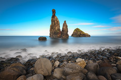 Natural pillar (Rico the noob) Tags: dof landscape nature d500 outdoor madeira stones sea longexposure 1120mm ocean multipleexposure beach water travel sky published 2017 coast clouds 1120mmf28