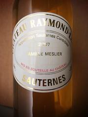 Château Raymond-Lafon / Sauternes / 2007 (npasquali) Tags: bordeaux famillemeslier sauternes chateauraymondlafon