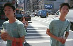 (David Chee) Tags: contax t2 carl zeiss sonnar kodak ultramax 400 newyork nyc broadway canal twins street film analog