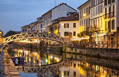 513469713 (bevoabroad) Tags: architecture bridge builtstructure cafe canal city citylife dusk europe house illuminated italianculture italy lombardy milanitaly navigliogrande night old outdoors people river street sunset town travel traveldestinations urbanscene vacations water navigli naviglio