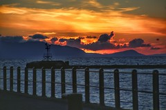 The pier (alison2mcewan) Tags: sky clouds harbour scotland ayr sunset pier water