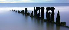 Aberdeen Beach (PeskyMesky) Tags: aberdeen aberdeenbeach groyne longexposure le scotland flickr water sea ocean