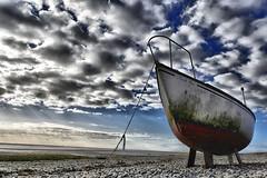 High & Dry (Explored) (CJS*64) Tags: nikon nikkorlens nikkor j5 nikonj5 cjs64 craigsunter cjs lancashire boat highdry colour clouds sky seaside shoreline beach