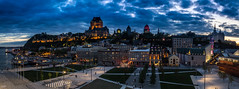Château Frontenac, Québec (Kev Walker ¦ 7 Million Views..Thank You) Tags: architecture building canon1855mm canon700d châteaufrontenac clouds cruiseship digitalart hdr historic panorama panoramic postprocessing queenmary2 québec saintlawrenceriver vieuxport