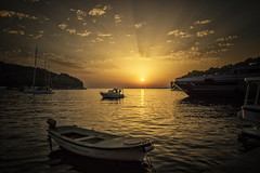 "The end of the day in Cavtat - Explored (mandyhedley) Tags: sunset cavtat croatia boats marina harbour clouds plane fishingboats yaught landscape seascape zadarregion cavtatisatownontheadriaticcoastofcroatia southeastofdubrovnikit'sknownforitsbeaches andthemanyancientillyriannecropolisesdottedaroundtheareanearthetreelinedcavtatharboristherector'spalace arenaissancemansionthatdisplaysthemanuscriptcollectionof19thcenturyscientistbaltazarbogišićneartheharbor thebaroquestnicholaschurchdisplayssomenotableartwork ""flickrtravelaward"" explored sunshine nature yellow orange cloudsstormssunsetssunrises abigfave"
