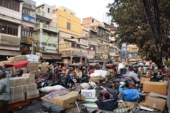 Delhi, Chandni Chowk (Sergio Capuzzimati) Tags: delhi chandni chowk india new old crowded busy street rickshaw asia market bazaar