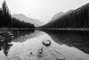 Calmness in black and white (derliebewolf) Tags: landschaft natur wald calmwater reflection mirror nature symetryinnature symetry lake akokalalake irix hiking backcountry backpacking camping glaciernationalpark glacier nationalpark nps glac sunset forest goldenhour blackandwhite bw fineart hike mono water indiansummer fall autumn clouds hss
