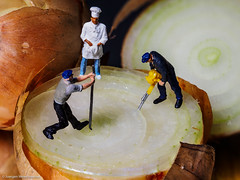 Tiny people - Onionrings please  / Zwiebelringe bitte (J.Weyerhäuser) Tags: h0 zwiebel preiser tinypeople onion ring ringe koch küchenchef handwerker