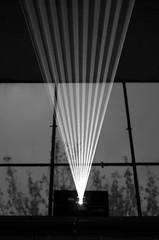 white light (stempel*) Tags: pentax k30 polska poland polen polonia gambezia 50mm bw czb blackandwhite czarnobiały laser light światło window okno żyrardów muzeum lniarstwa