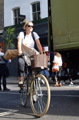 DSC_5430a London Columbia Road Sunday Flower Market Cyclist (photographer695) Tags: london columbia road sunday flower market cyclist