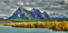 Fall Colors at Abraham Lake (John Payzant) Tags: alberta canada hdr panorama abraham