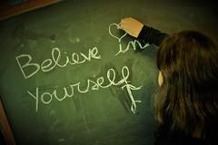 Believe in Yourself. (BarbaraBonanno BNNRRB) Tags: believeinyourself writingtotheblackboard blackboard scuolamalaspina middle school malaspina scuola media massa