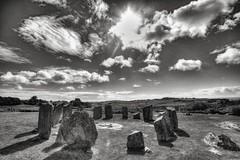 Drombeg Stone Circle (Evoljo) Tags: stonecircle stones ancient druid ireland countycork sky clouds drombeg nikon d500 blackwhite