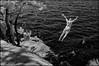 Leap of Faith (syncros) Tags: killbear park cliff jumping diving rocks fun summer brave infrared ir