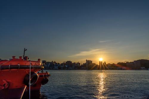 Sunset in Fukuoka