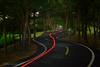 扭扭彎 (風景獵人) Tags: taiwan 台灣 風景 風景獵人 landscape taichung 台中 神岡 潭子 大雅 潭雅神綠園道 bycycle bike 腳踏車 單車 運動 sport 休閒 night 夜景 車軌 track painting