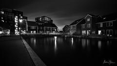 Reitdiephaven (mohdakhter) Tags: reitdiephaven holland netherlands europe longexposure blackwhite reflection sky villas