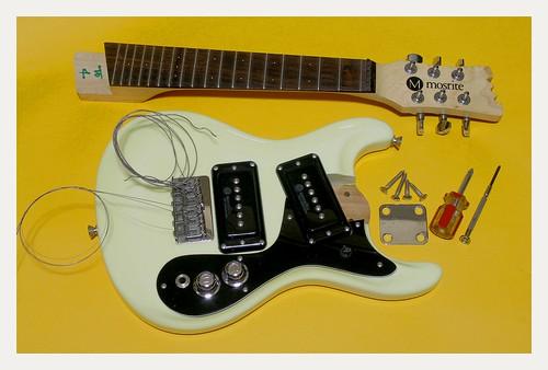 Mosrite mini guitar for traveling