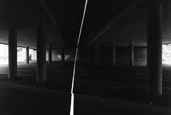 (xbacksteinx) Tags: canonef 35mm analog slr fd35mmf35sc kodaktmax bwnegative summer light shadow darkness