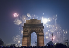 India Gate, Delhi India (Sourabh Gandhi) Tags: diwali deepawali india 2017 2016 2012 intriguing moment happy indian images photos photo photography fireworks golden temple gate steel wool photographer instant exposure long iamnikon nikon photographing