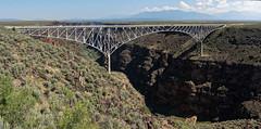the high bridge (rovingmagpie) Tags: newmexico taos riograndegorgebridge riograndegorge riogrande thehighbridge bridge bday2017 panorama pano