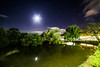 moonshine reflections (Paul Wrights Reserved) Tags: moon moonlight moonshine pond landscape reflection trees nightphotography night water shops goose