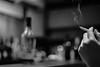 Smoking Noir (Rekishi no Tabi) Tags: cigarettesmoke bar monochrome tokyo japan fujifilm xpro2 acros