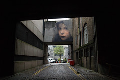 Street art (Troonafish) Tags: art streetart nuart nuartfestival 2017 aberdeen city urban mural wall granitecity stone granite beauty awesome portrait painting juliendecasabianca scotland scottish culture gavintroon gavtroon olympus olympuse500 zuiko alley alleyway darkstreet backstreet citycentre cobblestones cobbles aberdeenmarket eastgreen offthebeatentrack hidden secret