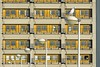 Street lamps and building (Jan van der Wolf) Tags: 15554 streetlights architeture architctuur leiden building gebouw gull meeuw straatlantaarns perspective herhaling reptition