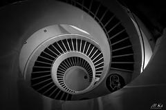 Le_Havre_0917-523 (Mich.Ka) Tags: normandie architecture bibliothèqueduhavre bibliothèqueuniversitaire bibliothèqueuniversitaireduhavre bâtiment courbe curve escalier geometric geometrique grafic graphique lehavre ligne line seinemaritime spirale stairs