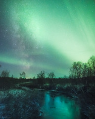 Rivers of light (R.J. Photography) Tags: milkyway auroraborealis nightsky nightscape starrynight longexposure