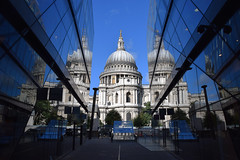 St Paul's Cathedral Daylight (joelpwilliams) Tags: cathedral mirror mirrorimage reflections reflection bluesky triangle triangular converging white walls tower england london londoncity church travel travelphotography trip structure street day daytime sky city cityscape photoshop architecture dome spire flickr follow4follow followback nikon life zoom zoomlens culture composition colours bestofflickr bestofphotoshop