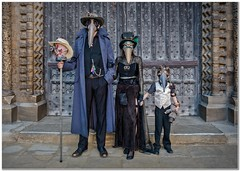 Steaampunk Family (Hugh Stanton) Tags: steampunk asylum lincoln 2017